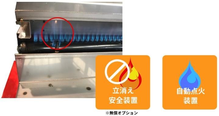 立消え安全装置 自動点火装置